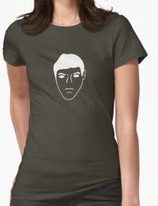 Repulsion Face, No Eyes - White Womens Fitted T-Shirt