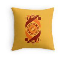 Spiritual Compass (fire) Throw Pillow