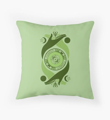 Spiritual Compass (earth) Throw Pillow