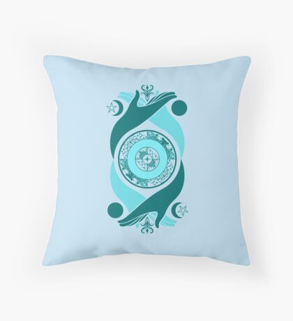 Spiritual Compass (water) Throw Pillow
