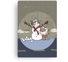Santa's Reindeer Card - Blitzen - Christmas Card Canvas Print