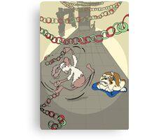 Santa's Reindeer Card - Prancer - Christmas Card Canvas Print