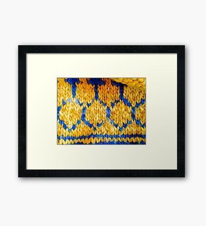 Turqouise and Gold Framed Print