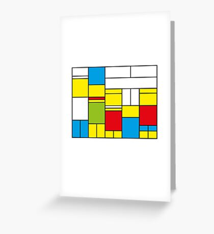 Mondrian ca 1989 - The Simpsons Greeting Card