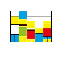 Mondrian ca 1989 - The Simpsons Photographic Print