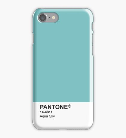 Pantone Universe Phone Case - Aqua Sky 14-4811 iPhone Case/Skin
