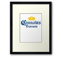 Cannabis Extracts Framed Print