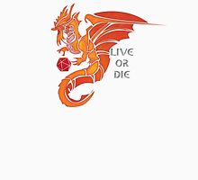 Live Or Die - Gold Dragon Unisex T-Shirt