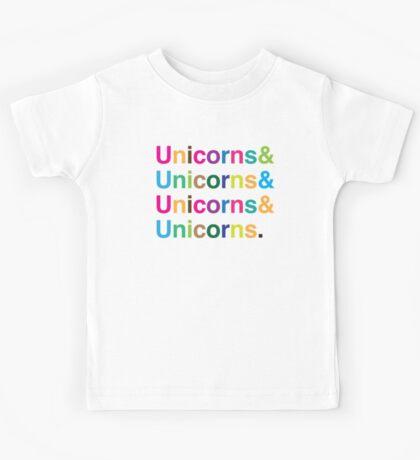 unicorns & unicorns & unicorns & unicorns Kids Tee