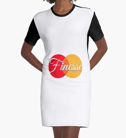 Finesse Bank Card Graphic T-Shirt Dress