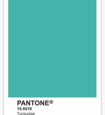 Pantone Universe Phone Case - Turquoise 15-5519 Sticker