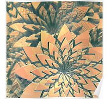 Abstract Orange Flowers Poster