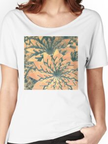 Abstract Orange Flowers Women's Relaxed Fit T-Shirt