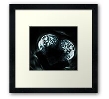 Crystal stylized heart, in the style of Gothic jewelery Framed Print