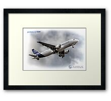 Airbus A320 - Duvets, Cases, Pillows etc Framed Print