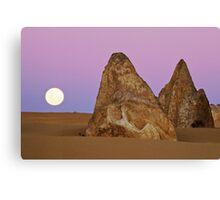 Pinnacles Moon Canvas Print
