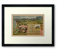 Map Of Hollywood 1887 Framed Print