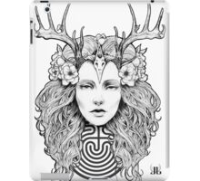 Horned Goddess by Juliana Loomer iPad Case/Skin