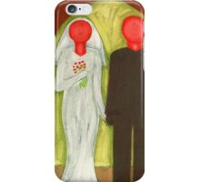 THE BLUSHING BRIDE AND GROOM iPhone Case/Skin