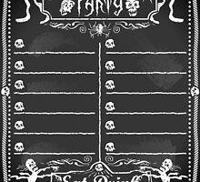Vintage Blackboard for Halloween Party by aurielaki