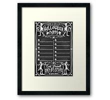 Vintage Blackboard for Halloween Party Framed Print