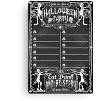 Vintage Blackboard for Halloween Party Canvas Print
