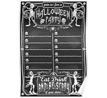 Vintage Blackboard for Halloween Party Poster