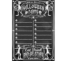 Vintage Blackboard for Halloween Party Photographic Print