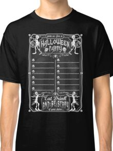 Vintage Blackboard for Halloween Party Classic T-Shirt