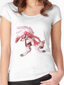 Pokémon - Lycanroc (Midnight Form) Women's Fitted Scoop T-Shirt