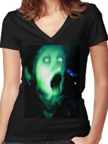 Creature #3 Women's Fitted V-Neck T-Shirt