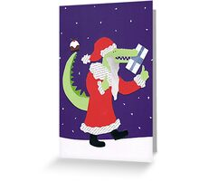 Santa Croc Greeting Card