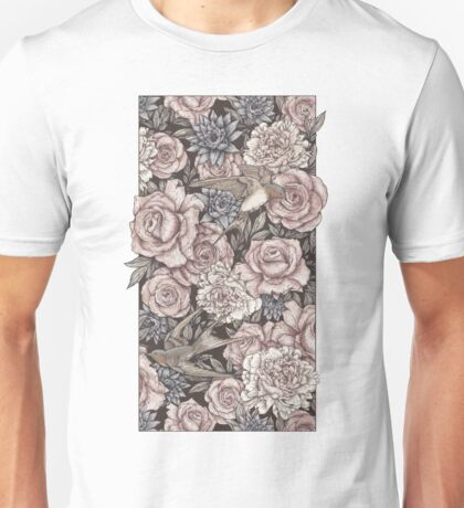 Flowers & Swallows Unisex T-Shirt