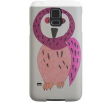 Perusia the pink owl Samsung Galaxy Case/Skin