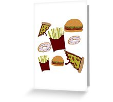 Fast Food Print Greeting Card