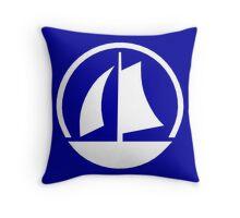 White Yacht Throw Pillow
