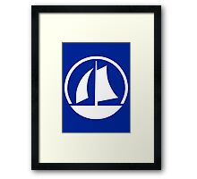 White Yacht Framed Print