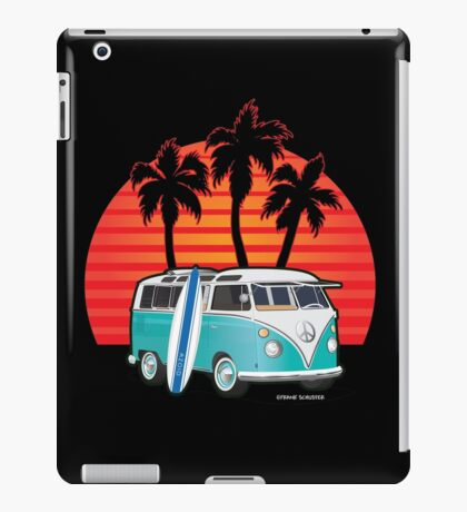 Split Window VW Bus Surfer Van with Palms iPad Case/Skin
