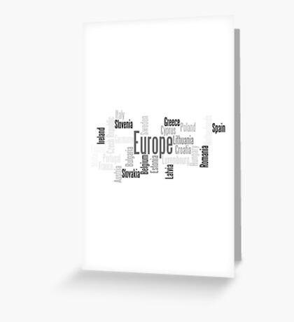 Post Brexit Europe Greeting Card