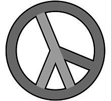 lambda peace gray Photographic Print