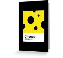 Cheese Pantone Greeting Card