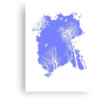 Forest Silhouette in Sky Blue Canvas Print