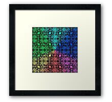 6 Colors Rainbow Abstract Pattern Backgrond Framed Print