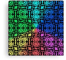 6 Colors Rainbow Abstract Pattern Backgrond Canvas Print