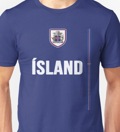 Iceland National Team Jersey Design - Island Team Wear Unisex T-Shirt