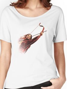 RED MOCKINGJAY Women's Relaxed Fit T-Shirt