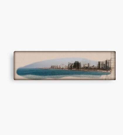 Israel, Tel Aviv coastline as seen from south from Old Jaffa Canvas Print