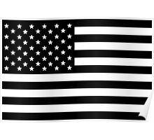 AMERICAN FLAG BLACK Poster