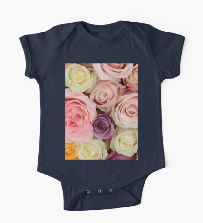 Pastel roses by TheRosegarden One Piece - Short Sleeve