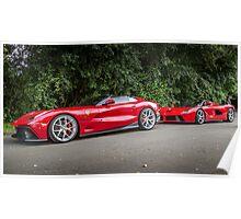 Ferrari TRS & LaFerrari Poster
